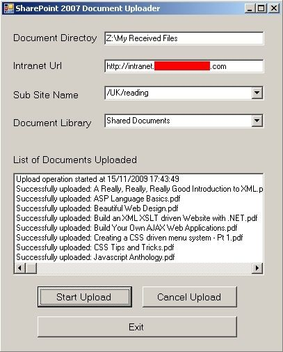 SharePoint Document Uploader