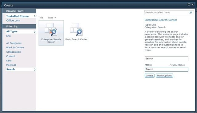 Sharepoint 2010 New Site Enterprise Search
