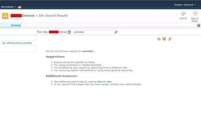 Sharepoint 2010 Original Search