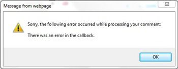 There Was Error In Callback