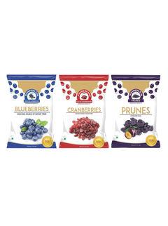 Dried Blueberries 150gm + Dried Sliced Cranberries 200gm + Dried Prunes 200gm