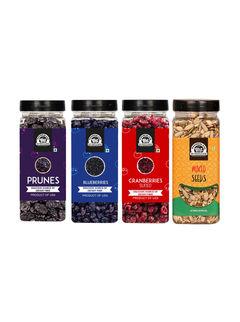 Wonderland Foods Immunity Combo Mix Seeds 200g, Blueberry 250g, Prunes 250g & Cranberry200g - 900g