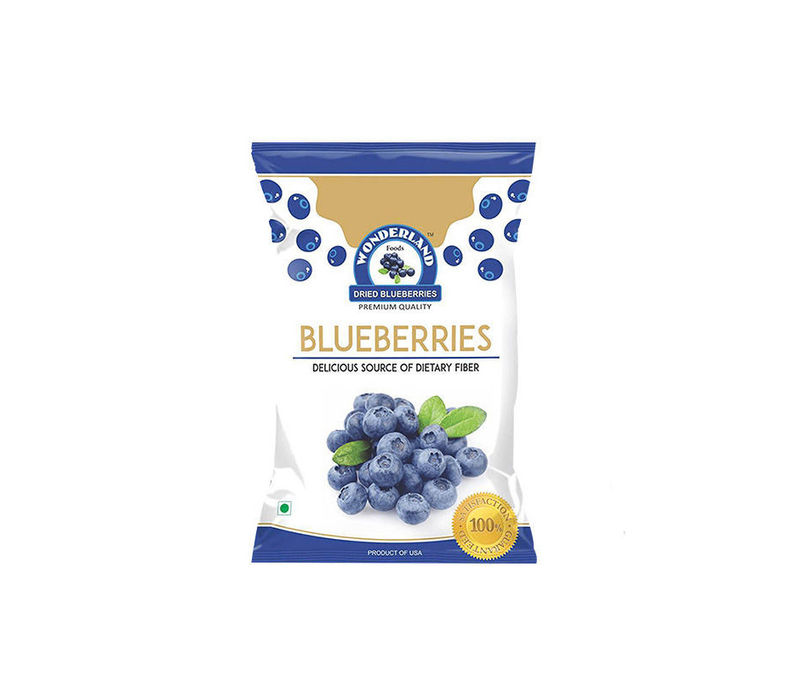 Wonderland Foods Premium Quality Low-Sugar Dried Blueberries 300G Combo Pack Of 2, 150G Each