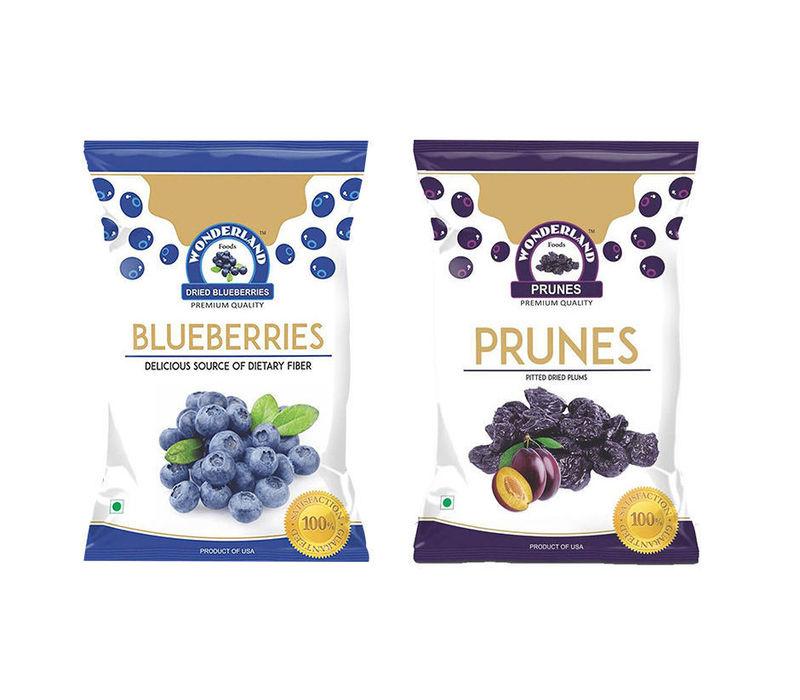 Dried Blueberries 150gm + Dried Prunes 200gm