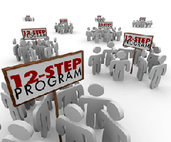 This is a picture with the word 12-step program