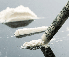This is a picture of two cocaine lines