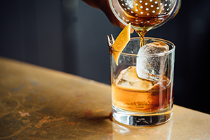 This is a picture of a glass of whiskey