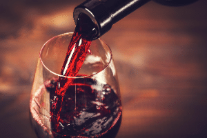 This is a picture of a glass of wine.