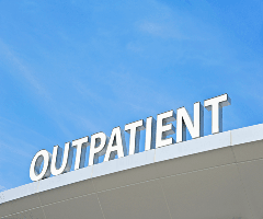 This is a picture with the word Outpatient on it