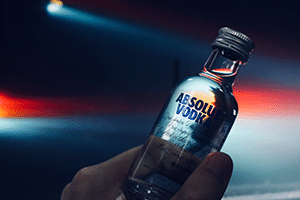 This is a picture of a bottle of Vodka.