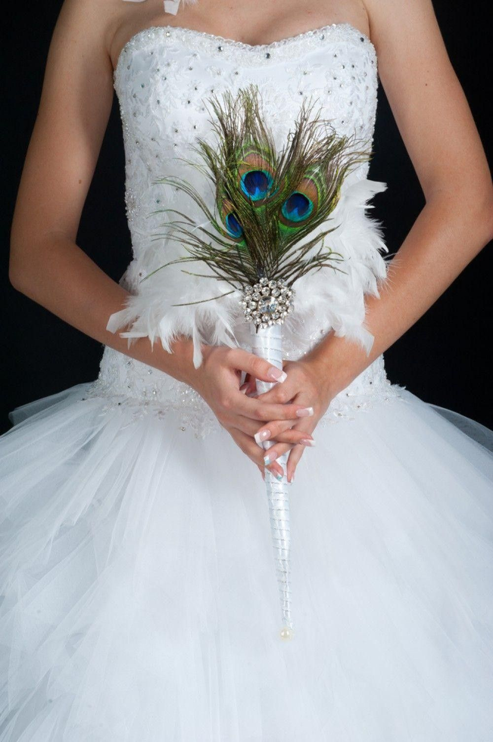 Bride with a small bouquet