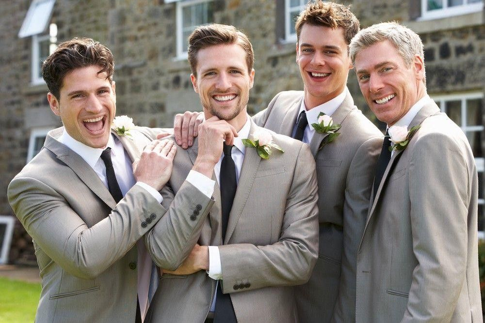 Bridegroom with his three best men