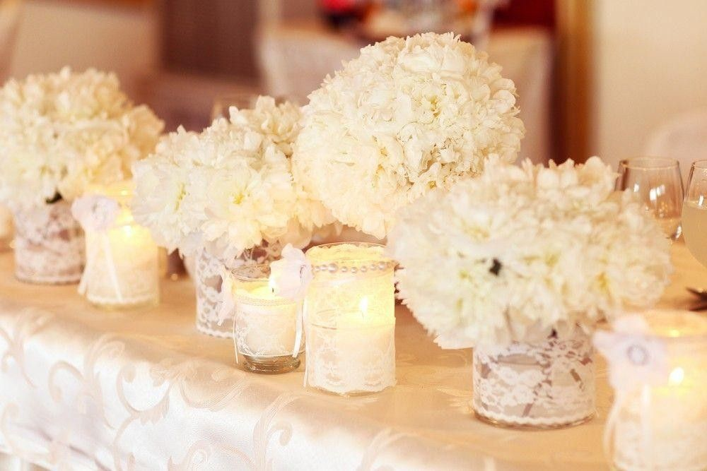 White Flower Arrangement on a table