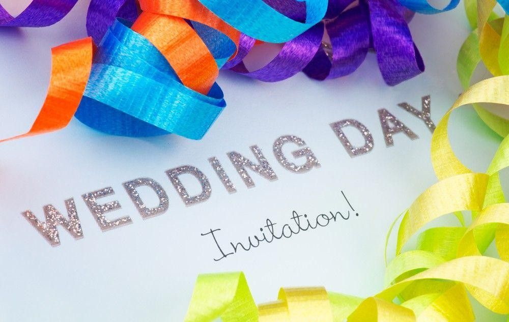 Colored wedding invitation
