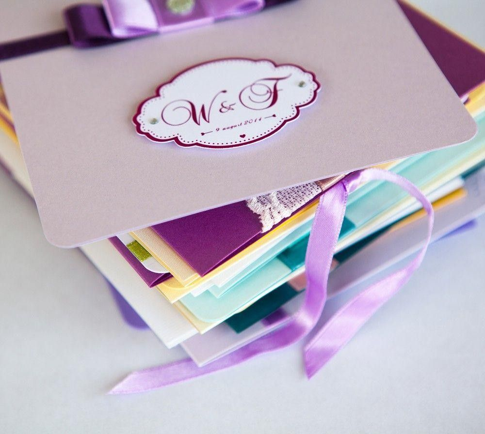 Invitation cards in different styles