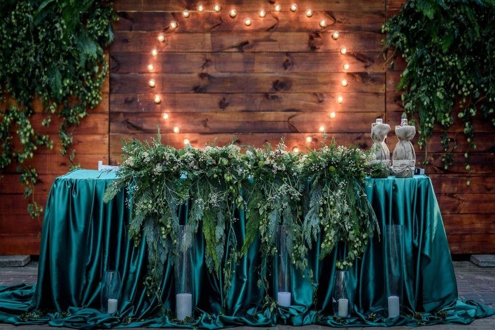Table decor with heart