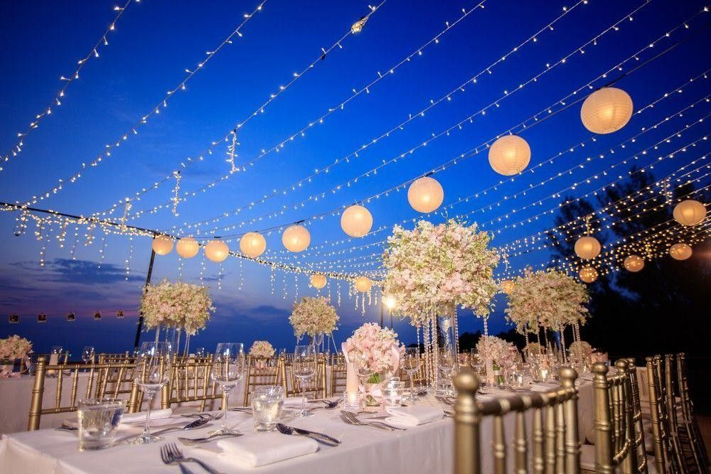 Table decors with lights