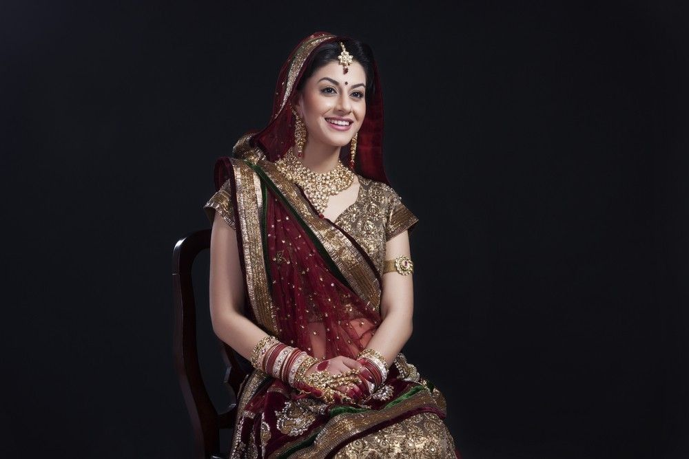 Indian bride with a beautiful dress