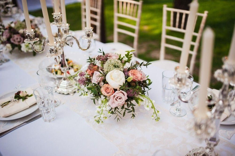 Seating with a bouquet