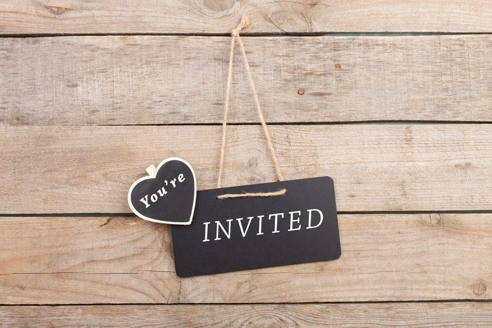Invited sign