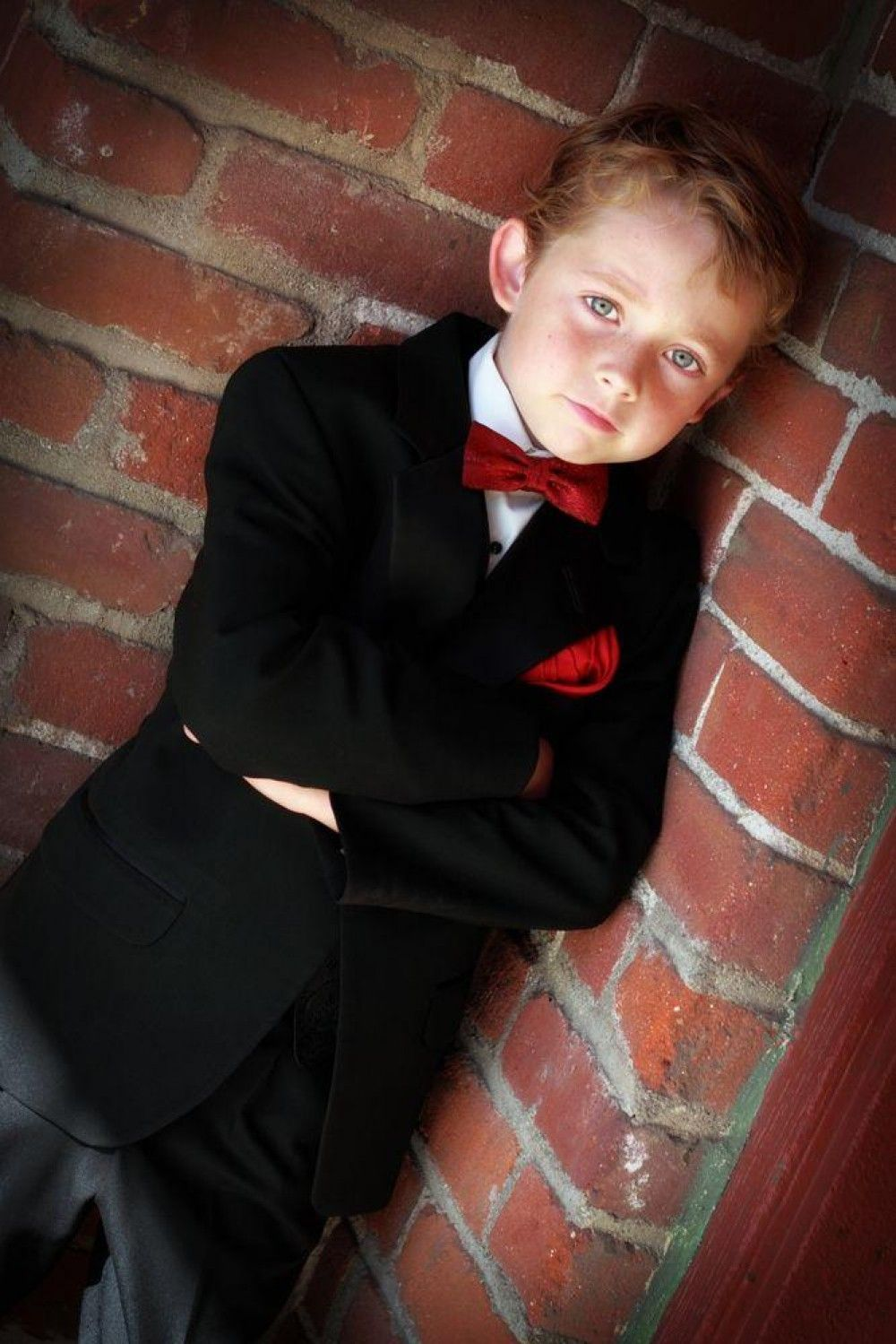 Ring bearer in a nice suit