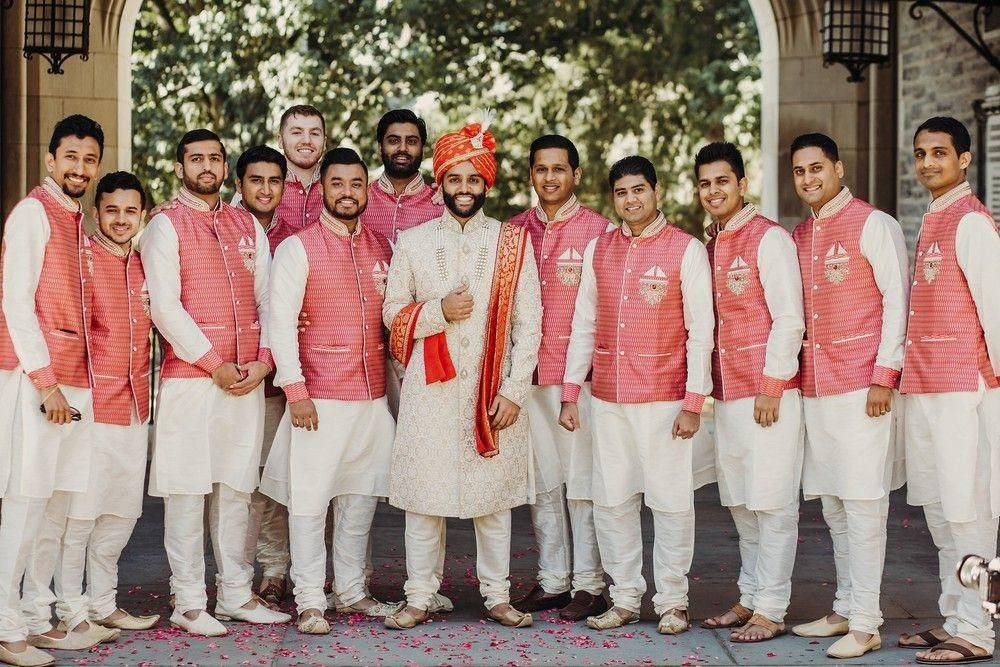 Indian Brideman with his best men.