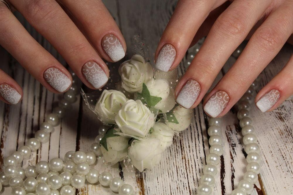 Beautiful nails with flower design