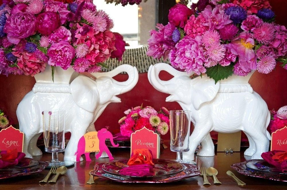 Flower Arrangement on an elephant decoration
