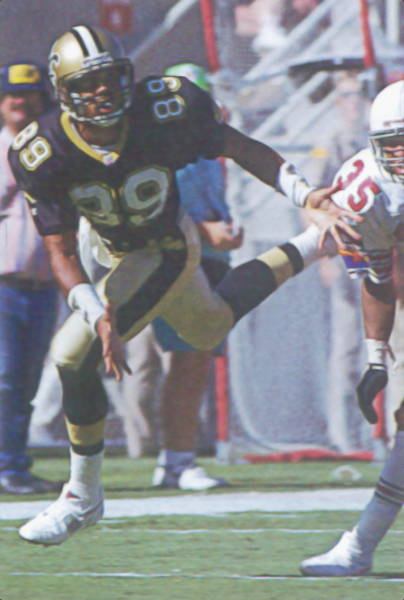 New Orleans Saints Receiver Quinn Early in 1992
