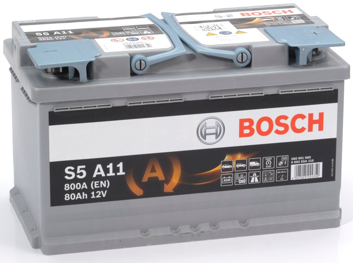 reviews s5 a11 bosch agm car battery 12v 80ah type 115. Black Bedroom Furniture Sets. Home Design Ideas