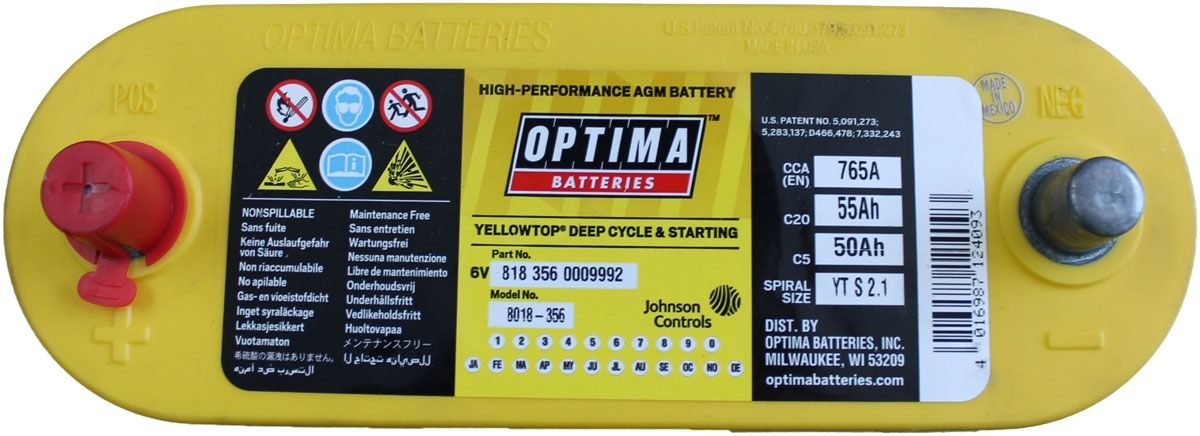 Vw Eos 6v Optima Battery Optima Car Batteries