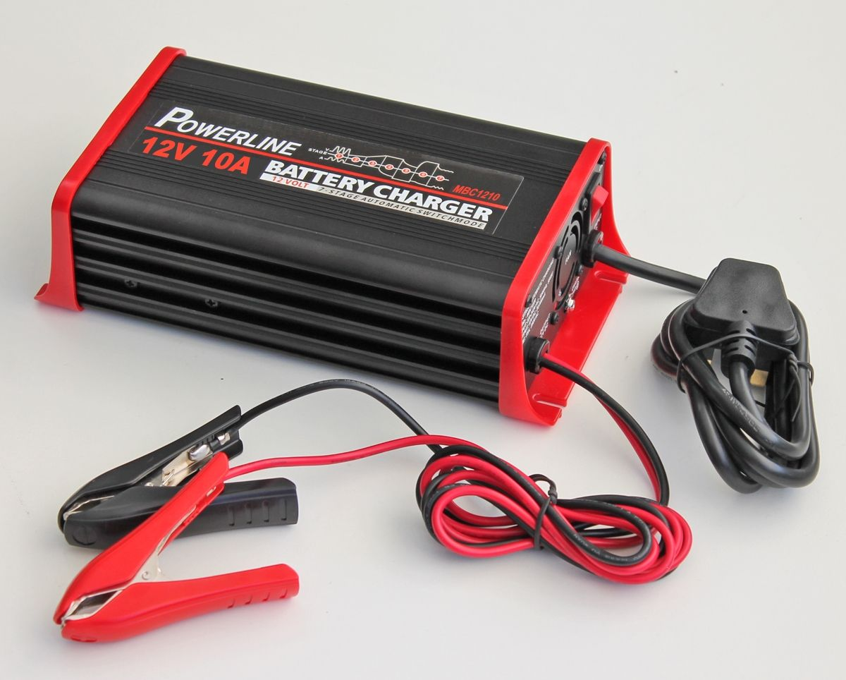 12v 10a Powerline 7 Stage Automatic Battery Charger 10 Amp