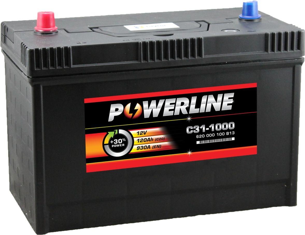 Battery Car: C31-1000 Powerline Car Battery 12V 120Ah