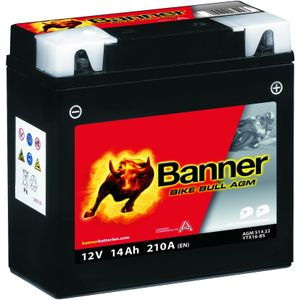 YTX16-BS Compatible Banner Bike Bull AGM Battery (51422)