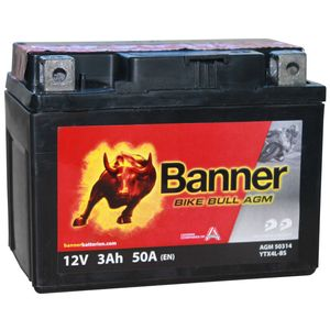 YTX4L-BS Compatible Banner Bike Bull AGM Battery (50314)