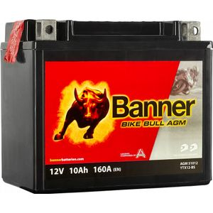 YTX12-BS Compatible Banner Bike Bull AGM Battery (51012)