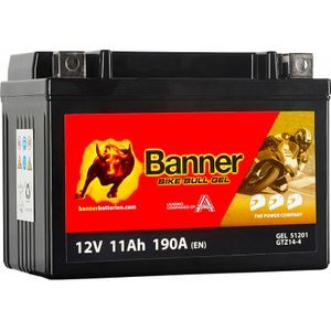 GTZ14-4 Banner Bike Bull GEL Battery (51201)