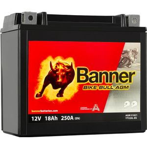 YTX20L-BS Compatible Banner Bike Bull AGM Battery (51821)