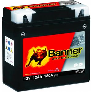 YTX14-BS Compatible Banner Bike Bull AGM Battery (51214)
