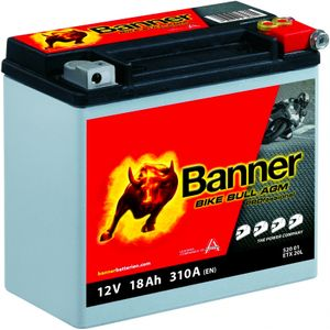 YTX20L-BS Compatible Banner Bike Bull AGM PROfessional Battery (52001)