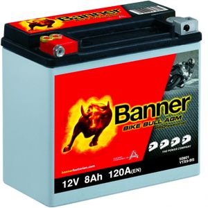YTX9-BS Compatible Banner Bike Bull AGM PROfessional Battery (50901)