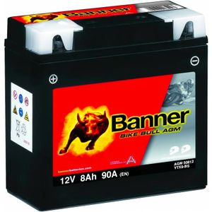 YTX9-BS Compatible Banner Bike Bull AGM Battery (50812)