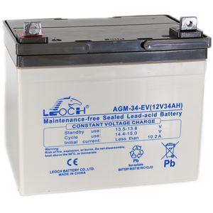 Leoch AGM-34-EV Mobility Battery 12V 34Ah