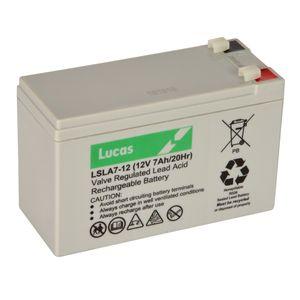 7Ah 12V Lucas VRLA Battery LSLA7-12