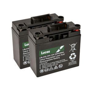 Pair of Lucas 22Ah Battery LSLC22-12