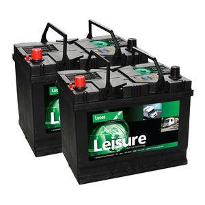 Pair of Lucas LL22MF Leisure Batteries 75Ah