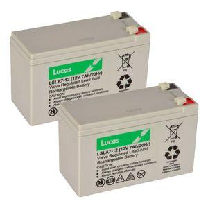 Pair of 7Ah 12V Lucas VRLA Battery LSLA7-12