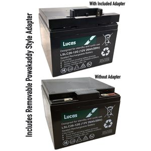 Pair of Lucas 18 Hole Golf Battery 26Ah (LSLC26-12G)