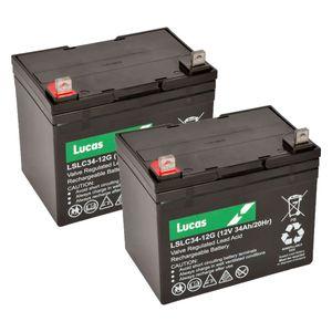 Pair of Lucas LSLC34-12 Mobility Batteries