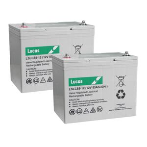Pair of LSLC85-12 Lucas Sealed Batteries 12V 85Ah